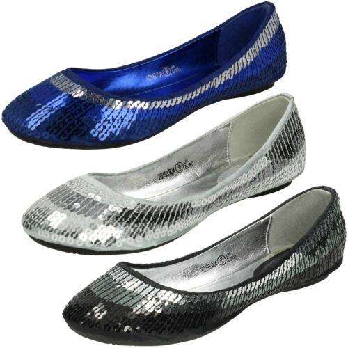 Cutie Girls Flat Slip On Sequin Ballerina Shoes