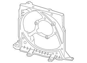 Genuine Porsche Fan Shroud 991-106-155-02