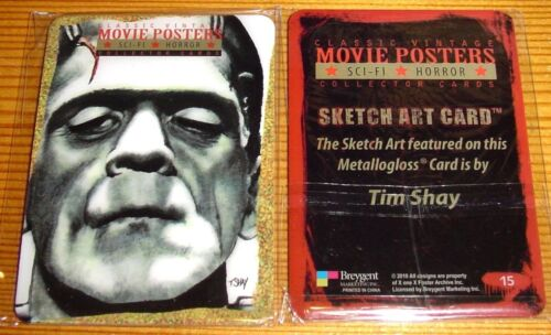 Breygent Classic Sci-fi /& Horror Movie Posters 2 Individual Metallogloss Cards