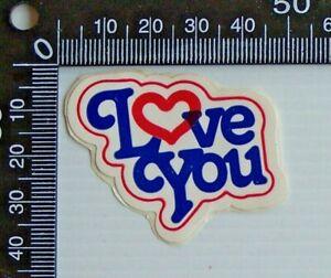 VINTAGE-I-LOVE-YOU-NOVELTY-PROMO-STICKER