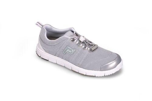 Propet Women Travel Walker II W3239 Silver Light Weight Sneaker