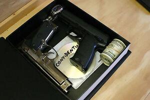 Details about BOOK SAFE - HOLLYWOOD - THE GOLDEN YEARS Watch PISTOL GUN  Money HANDGUN Hidden