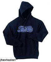 Pepsi-cola Navy Blue 50/50 Hooded Sweatshirt - Pepsi - (men's Size Lg)