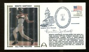 Benito-Santiago-Signed-FDC-First-Day-Cover-Autograph-Padres-Hitting-Streak-56243