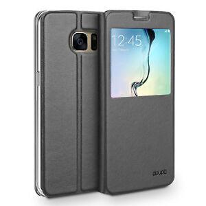 Flip-Case-Samsung-S6-Edge-Magnet-Fenster-Cover-Aufstellbar-Staender-Huelle-Etui