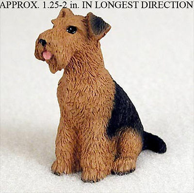 Airedale Mini Resin Dog Figurine Statue Hand Painted