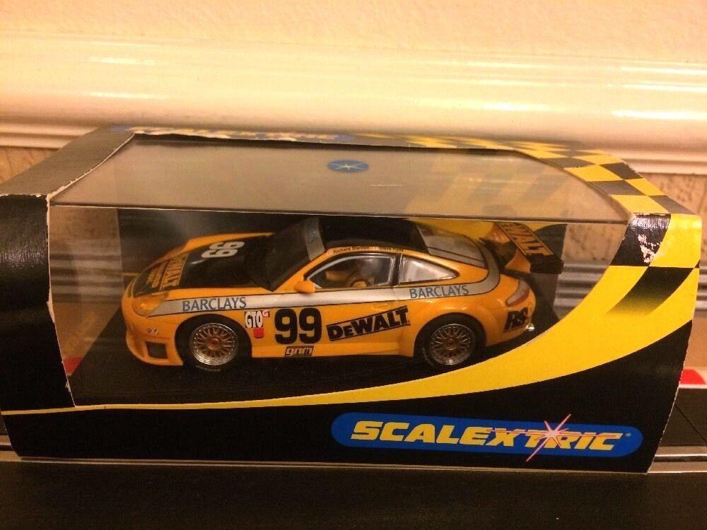 Scalextric Porsche 911 GT3R DeWALT No99 C2481 New Bar Test Laps