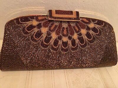 Luxus Clutch, Abendtasche, Perlentasche