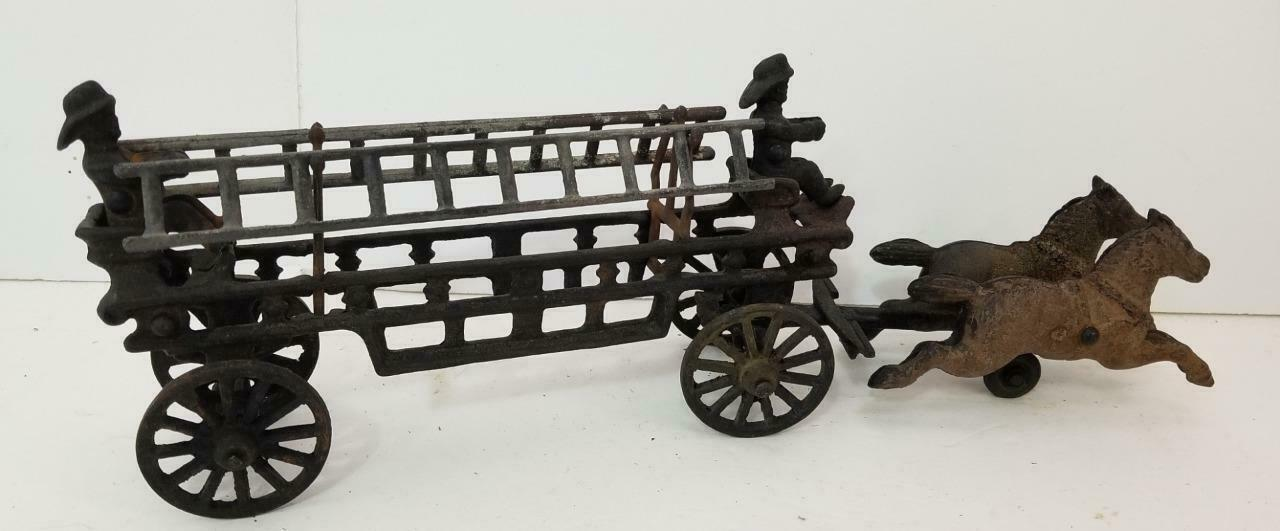 VINTAGE ANTIQUE CAST IRON FIRE ENGINE