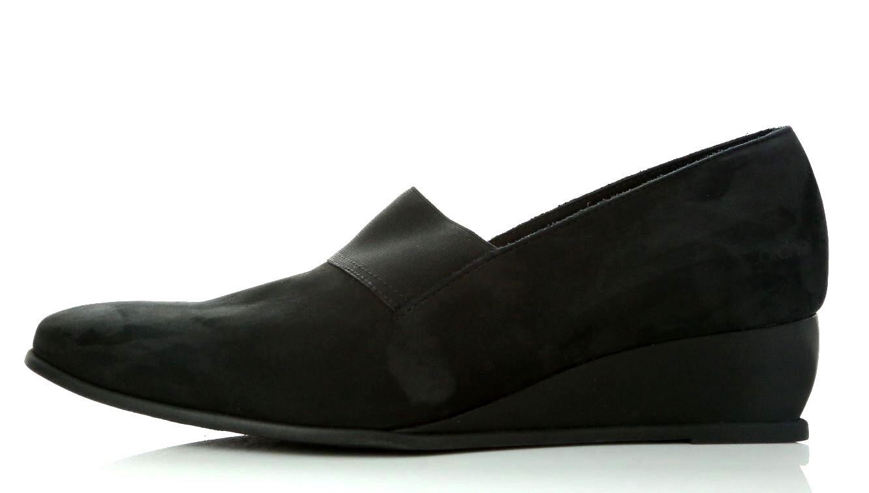 ARCHE Black Emyone Nubuck Suede Slim Wedge Heel Loafers shoes Size 41