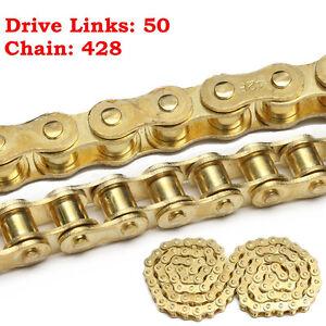 50 Links 428 Sprockets Drive Chain For 50cc 110cc 125cc 140cc PIT Dirt Bike  #