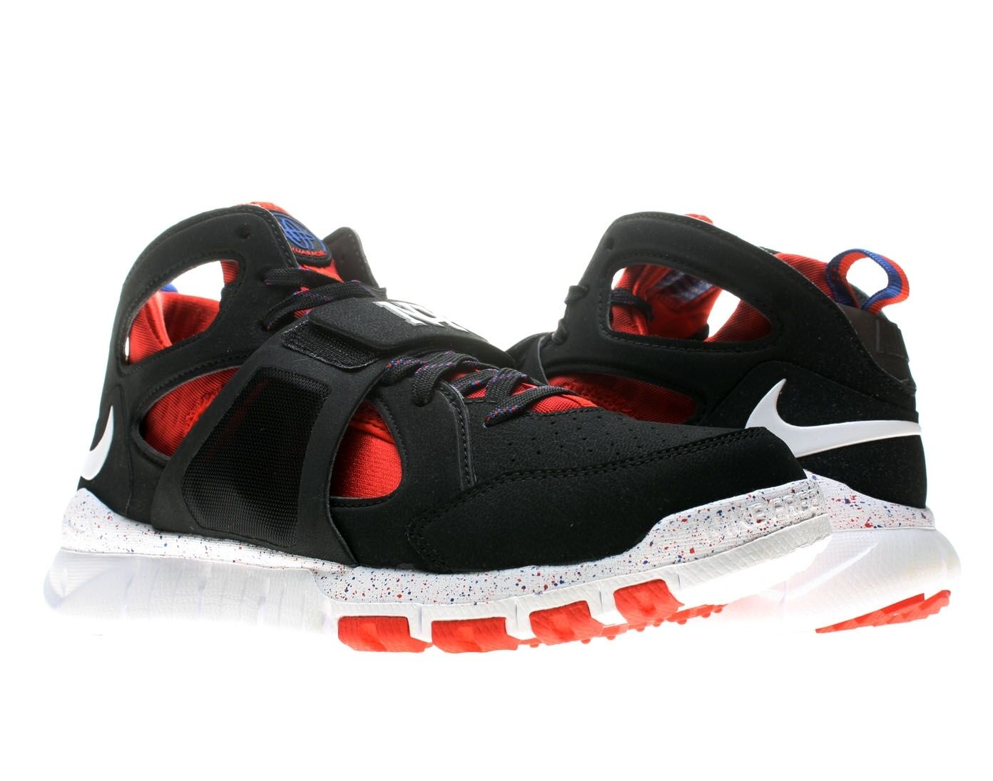 "Nike Huarache Free Shield ""NYC Pack"" Black Red bluee [559599-016] Mens Size 10 DS"