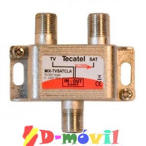 COBINADOR-MEZCLADOR-SATELITE-TERRESTRE-DIPLEXOR-TECATEL-TV-SAT-PARABOLICA-TDT