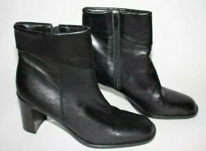 Enzo Angiolini Womens Black Ankle Boots Booties Leather Size 7M 7 Shoes