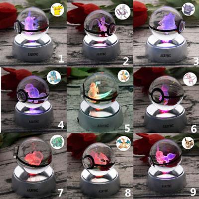 Gut Pokemon Pikachu 3d Led Laser Kristall Tischlampe Nachtlicht Geschenke Xmas Gift