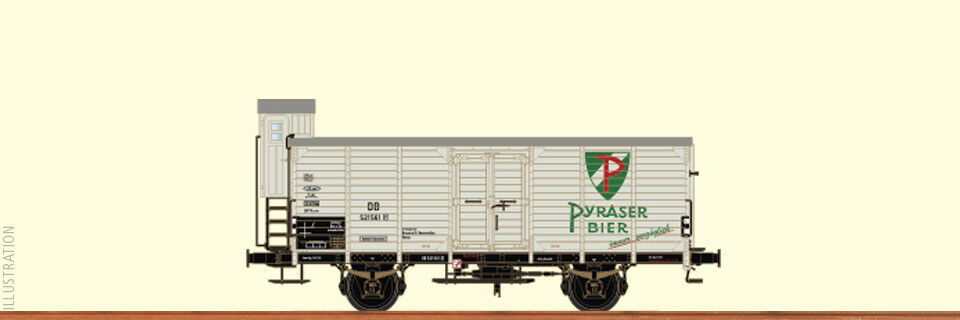 Brawa 49043 CLOSED GOODS WAGON g10 pyraser Beer DB 521 561 EP. III New