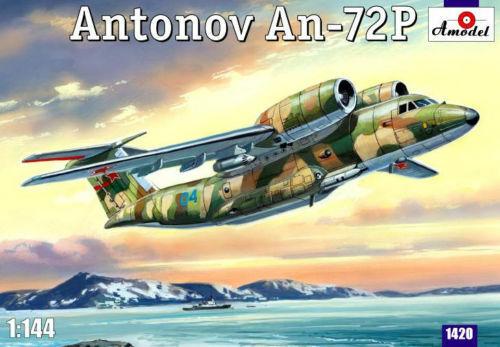 Amodel 1420 - 1 144 Antonov An-72P Patrol Aircraft, scale plastic model kit