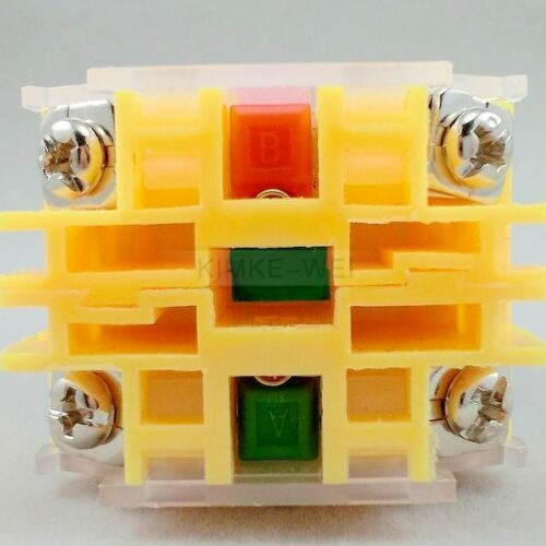 5x Green Momentary OFF-ON N O Push Button Switches 600V 10A 22mm Y090 LAY37