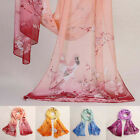 Fashion lucky Magpie design Chiffon Soft Neck Scarf Shawl Scarves Stole Wraps