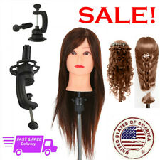 Cosmetology Mannequin Head 80 Animal Hair Hairdreser Training Doll Clamp Y4z6