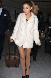 Coat Borg Jacket Women White Size Faux Topshop Ladies Fur Uk Teddy Tall Off 12 7vwnx0g4Pq