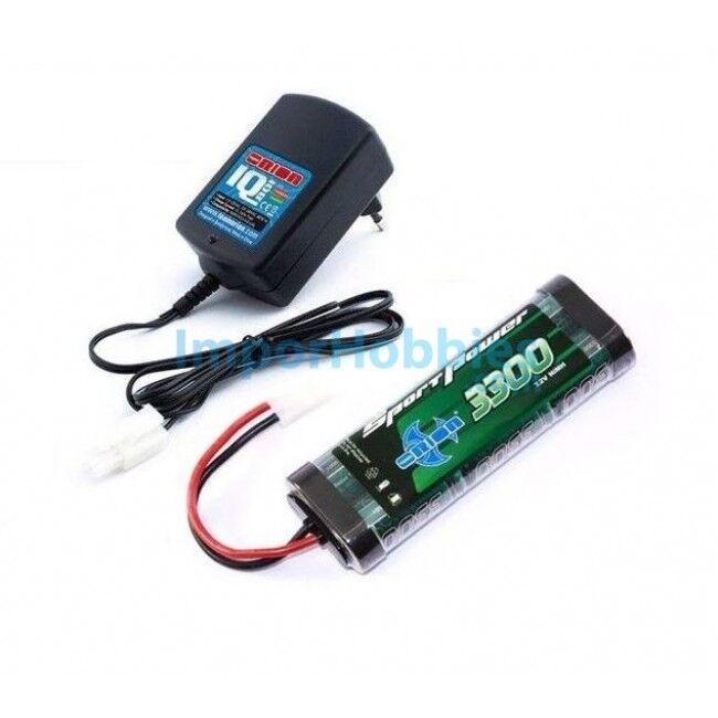 Cargador Ni-Mh IQ801 + Bateria 7.2v Ni-Mh Sport 3300mah Team Orion ORI30201X2