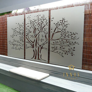 Image Is Loading Tree Of Life Triptych DIY Decorative Screens Indoor