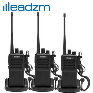 3x-LEADZM-C2-UHF-400-470MHz-Walkie-Talkie-Two-Way-Radio-Handhled-Long-Range-GMRS