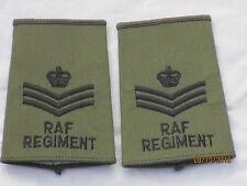 GB-Rangschlaufen: Staff Sergeant, Royal Air Force,oliv, RAF, Luftwaffe