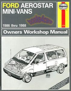 shop manual aerostar service repair ford haynes chilton book ebay rh ebay com 1994 ford aerostar owners manual ford aerostar service manual pdf