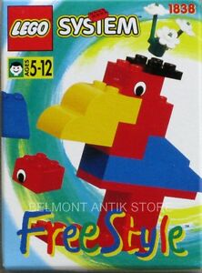 Lego-system-Freestyle-n-1838-1996-L-039-Oiseau-Boite-collector-intouvable