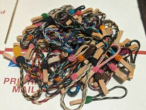 HAND-BRAIDED-HORSEHAIR-KEYCHAINS-MADE-IN-MONTANA-STATE-PRISON-GROUP-OF-10-RANDOM