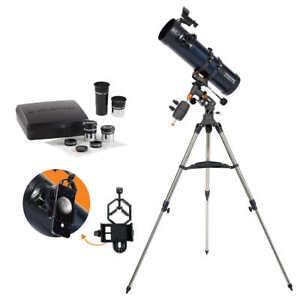 Celestron-AstroMaster-130EQ-with-Eyepiece-Kit-Telescope-StarPointer-Smartphone