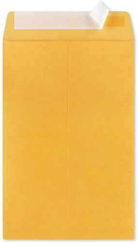 50-6x9 Brown Kraft Self Seal Catalog Envelopes with Peel Mailing Bags 28lb