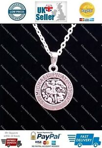 st michael pray for us pendant on a 925 sterling