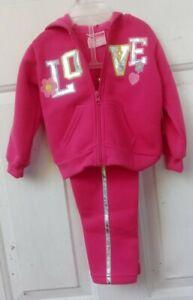 2B-Real-Girls-12-mo-Pink-Sweatsuit-Hoodie-amp-Pants