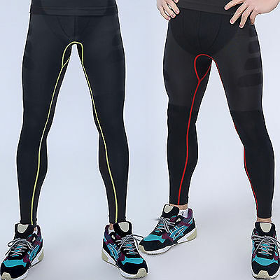 Mens COMPRESSION Base Layer Long Pants Tight Under Skin Sports Gear GYM Bottom