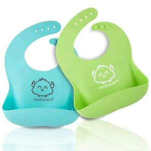 Silicone Baby Bibs - Waterproof, Easy Wipe Silicone Bib for Babies, Toddlers,