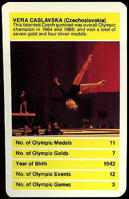 Czechoslavakia Olympic All Time Greats Top Trumps Card c257 Extremely Efficient In Preserving Heat Popular Brand Vera Caslavska