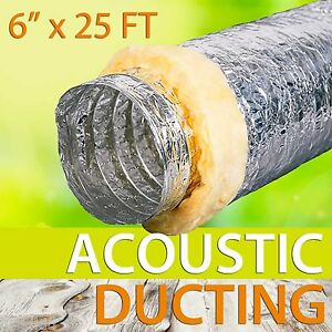 Flexible Acoustic Insulated Ducting Hydroponics Heat Recovery Fan All Sizes