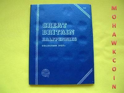 NEW WHITMAN FOLDER #9680 GREAT BRITAIN HALFPENNY STARTING 1937