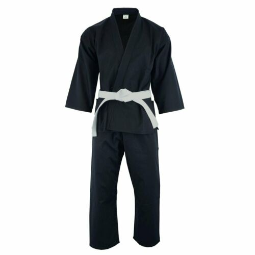Karate Uniform Heavy or light weight Gi Pant White Black w// Belt adult kids