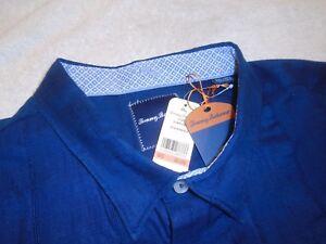 Tommy-Bahama-Forrado-Mezcla-de-Algodon-Legend-Deporte-Camisa-Nuevo-con-Etiqueta