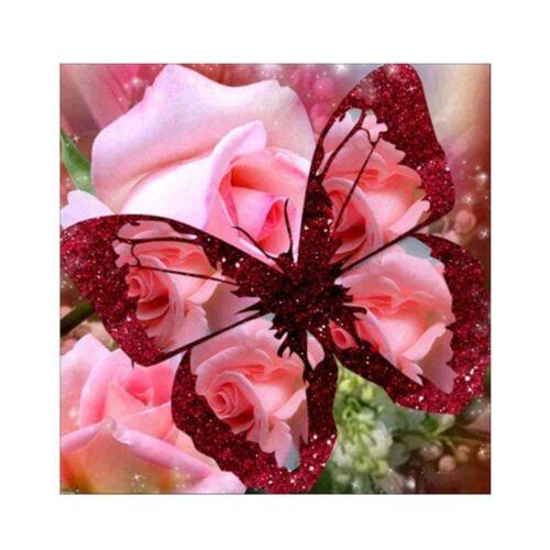 UK 13 Types Butterfly 5D Diamond Painting Embroidery Cross Stitch DIY Kit Decor