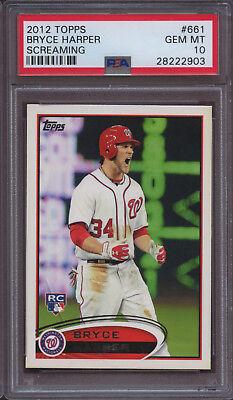 Yelling Variation 2012 Topps Baseball #661 Bryce Harper Rookie Card