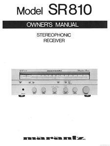 marantz sr810 receiver owners instruction manual ebay rh ebay com marantz sr7010 owners manual Marantz SR7008