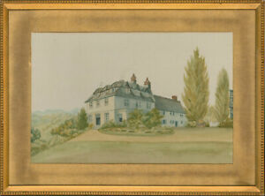 Mid-20th-Century-Watercolour-Countryside-House