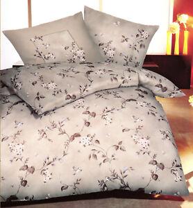Details Zu Kaeppel Biber Bettwasche Vogel Und Blumen Beige 135 X 200 Cm Baumwolle