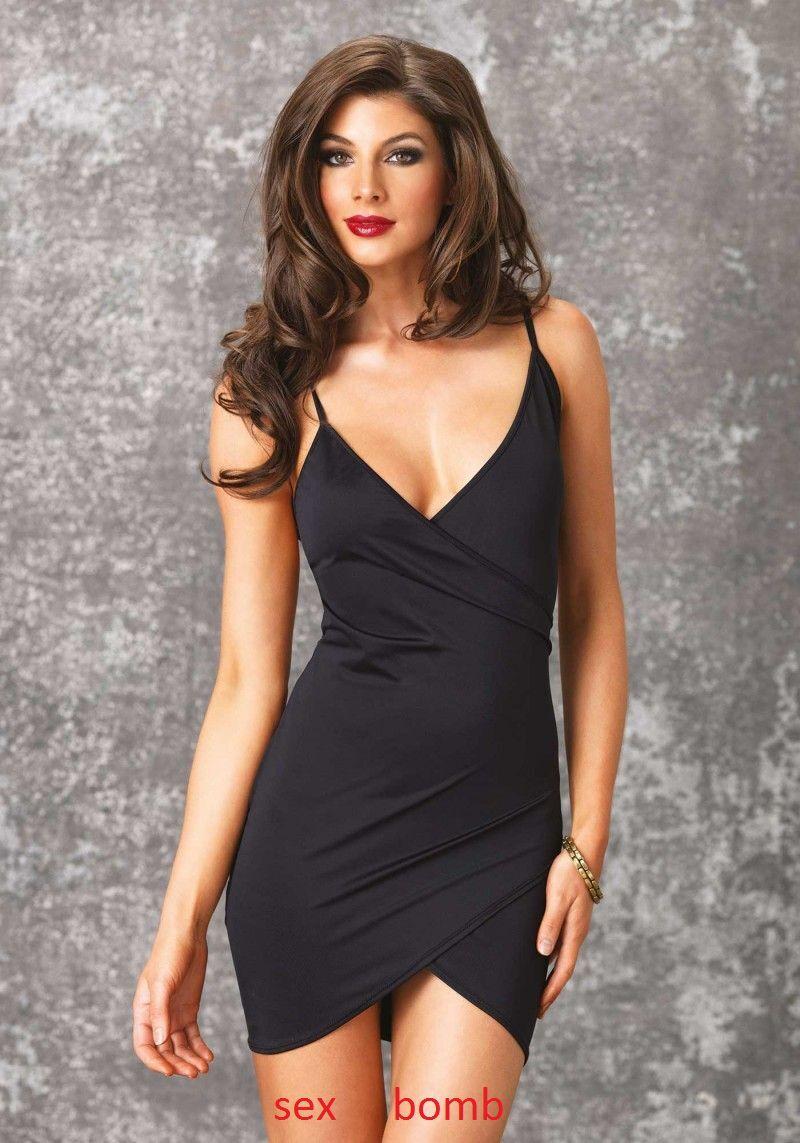 SEXY abito vestito schwarz drappeggiato SILHOUETTE taglie S M L XL fashion GLAMOUR