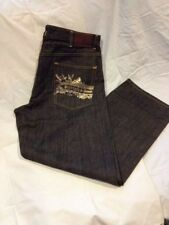 Sean John Mens Hard Black Denim Jeans Size 38